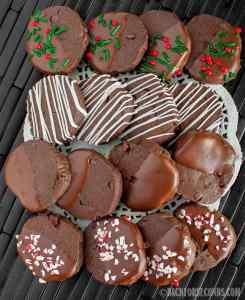Double Chocolate Shortbread Cookies