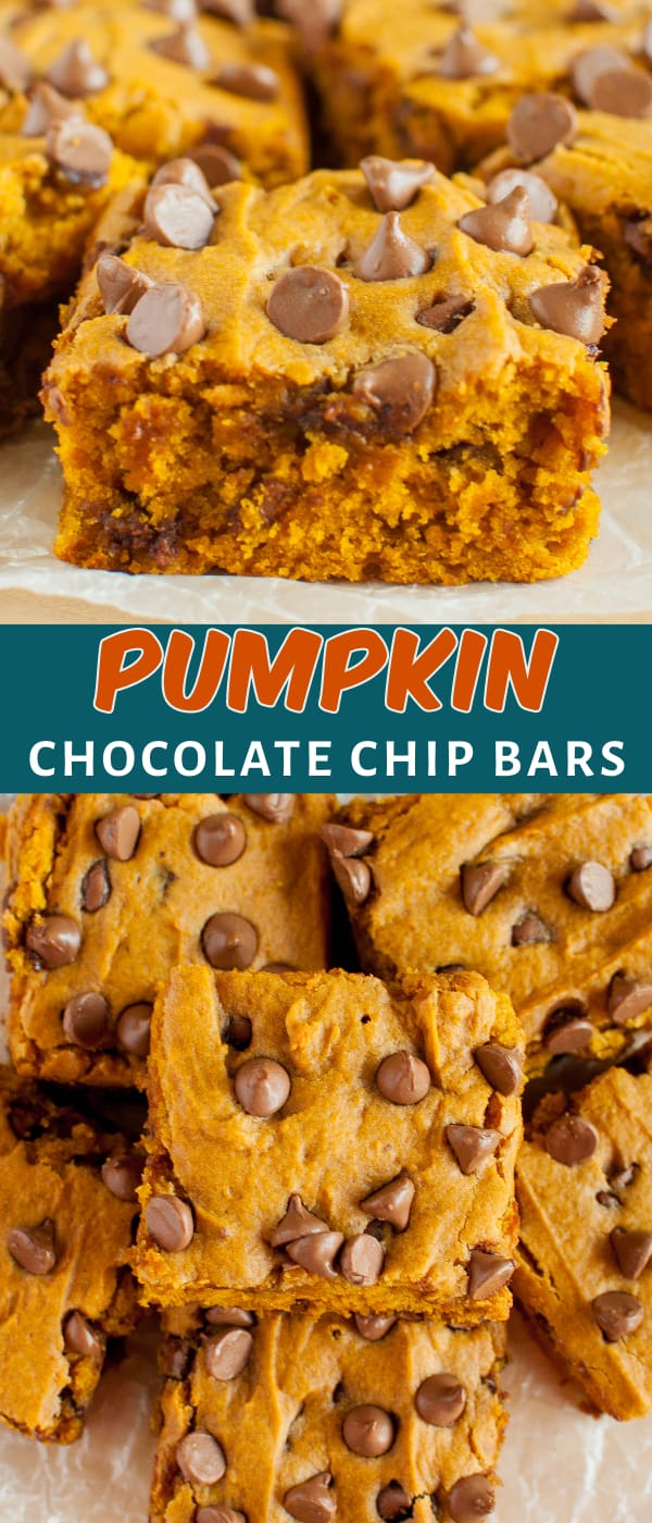 pumpkin bars collage photo