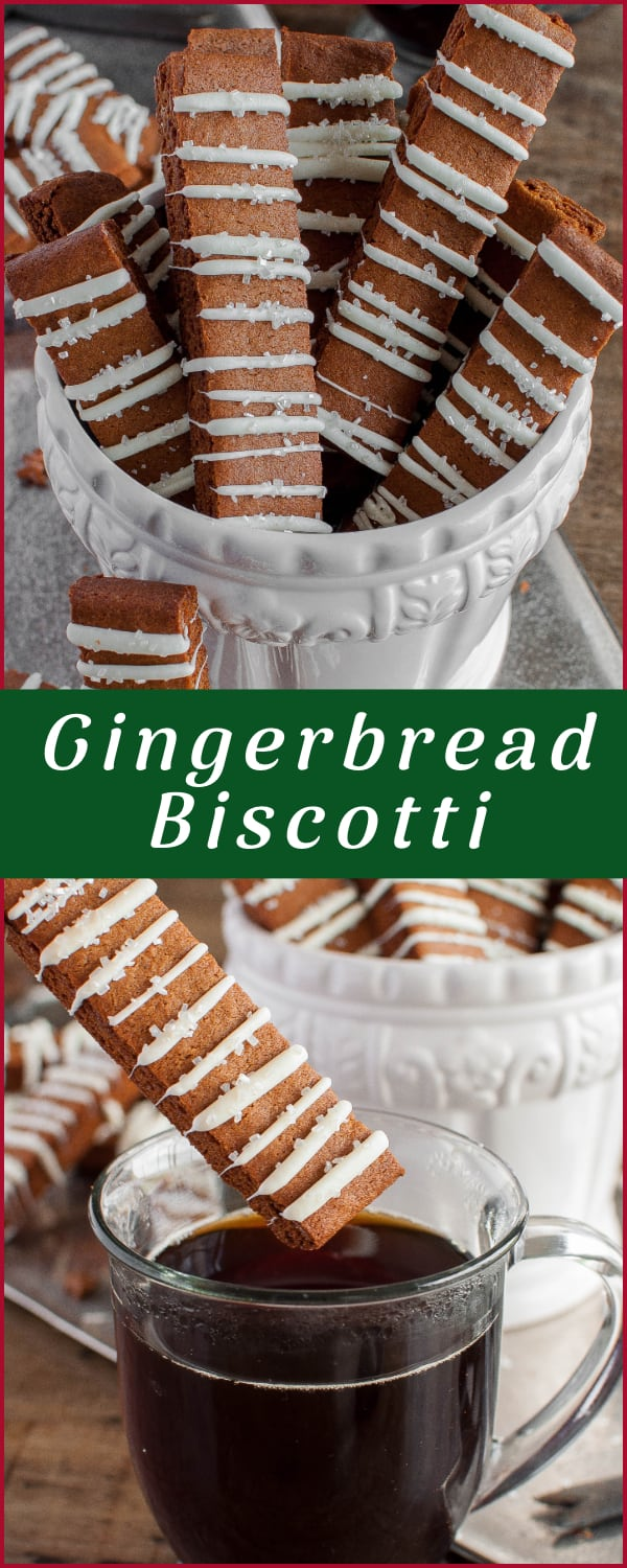 Gingerbread Biscotti Recipe collage photo