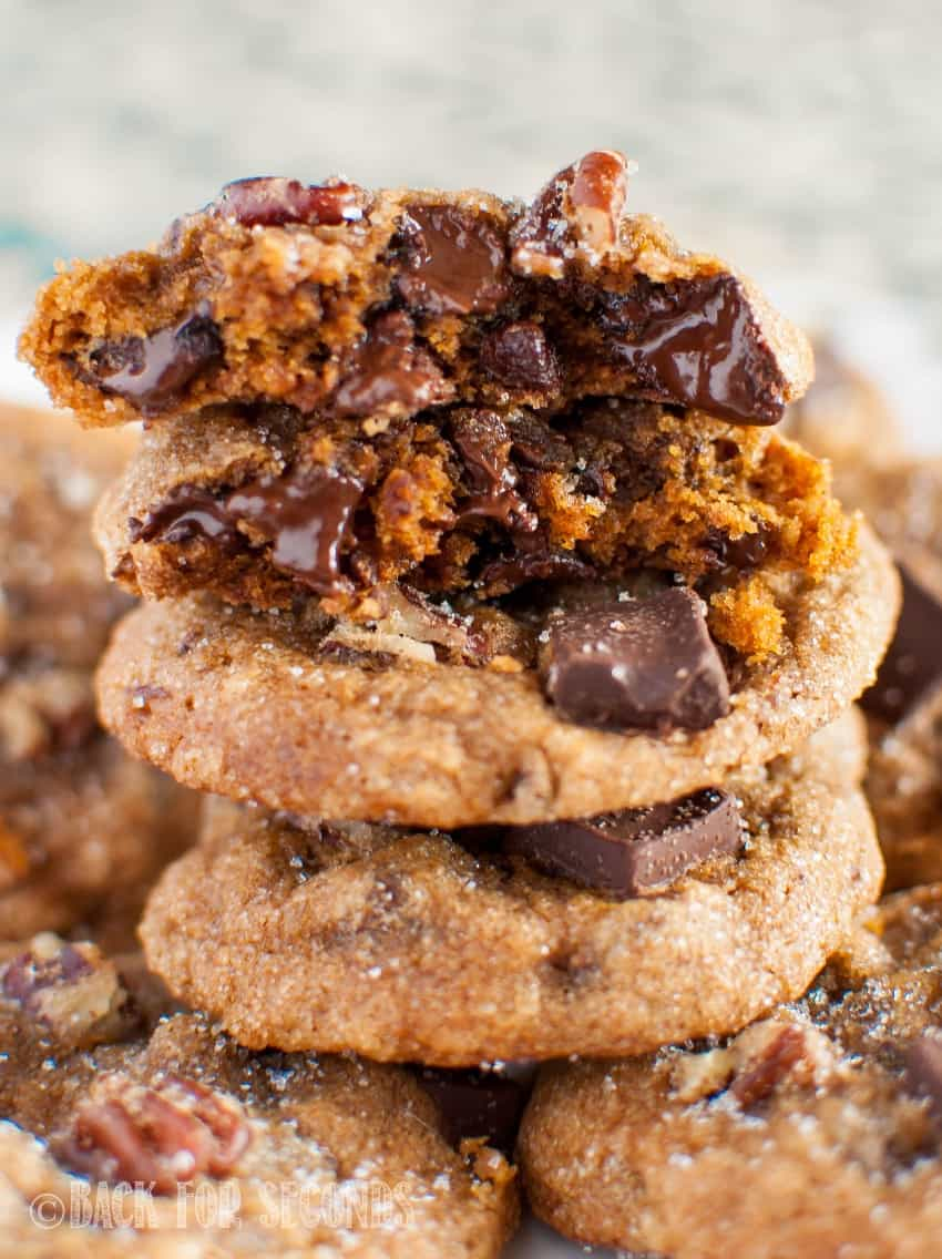 Melted Chewy Molasses Chocolate Chunk Cookies
