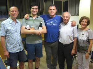 Marc, Nader (winner & organizer), Kristoffer, Akbar and Fakhri