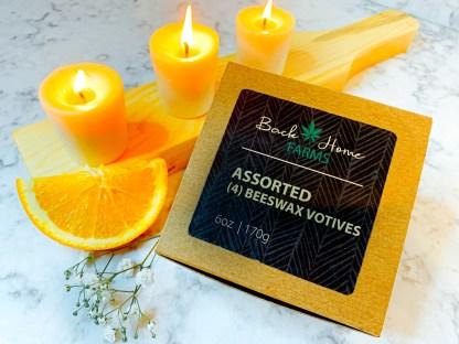 Orange Blossom Beeswax Votives