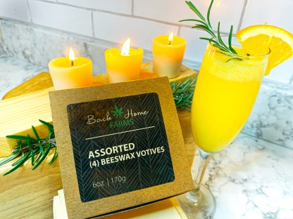 Mimosa & Bergamot Beeswax Votives
