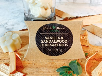 Vanilla & Sandalwood Beeswax Melts