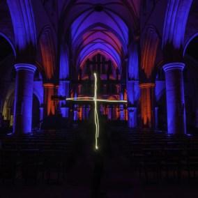 Light Painting At Saint Wilfrid's