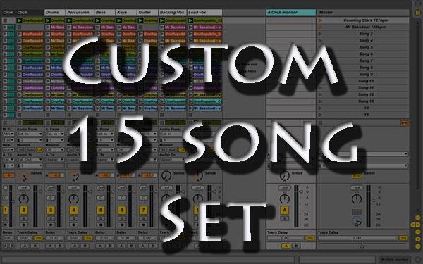 backing tracks Custom 15 song