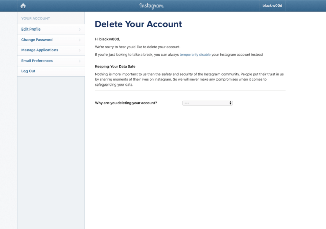 How to deactivate your Instagram account or delete it for good