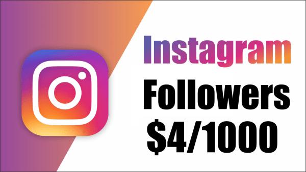 Instagram Followers $4