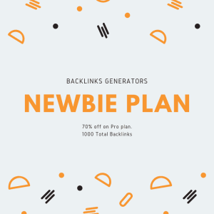 backlinks generators noob plan