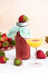 Sirup aus Erdbeeren