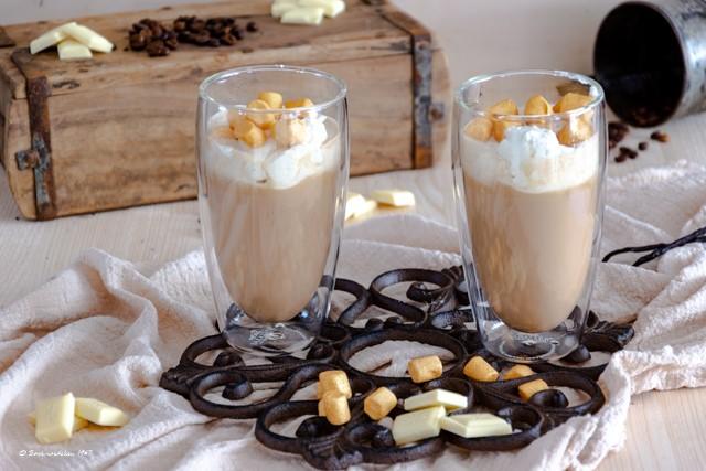 Mokka mit weißer Schokolade