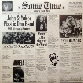 John & Yoko/Plastic Ono Band With Elephant´s memory Some time in New York