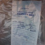 My evidence bag.