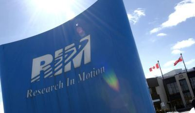 Image: Research in Motion sign