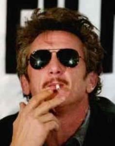 Image: Sean Penn with sunglasses, smoking