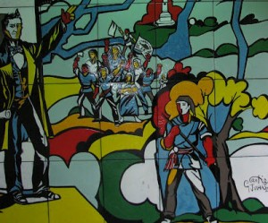 Image: Mural of national patriots
