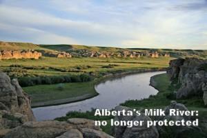 Alberta's Milk River: no longer protected