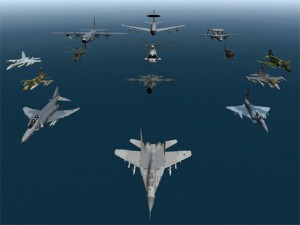 Nato aircraft flying in formation