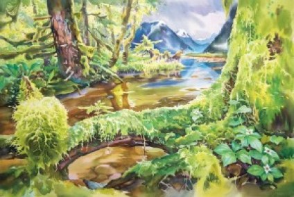 """Painting: """"Great Bear Rainforest"""" by David McKeown"""