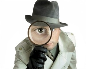 Detective with spyglass