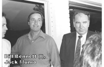 Bill Bennett (l), Jack Munro