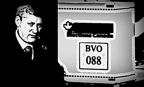 Stephen Harper and ballot box