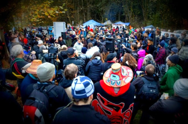 Burnaby Mountain protesters
