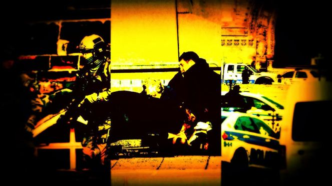 triptych of photos from Parliament Hill shooting
