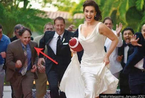 Peter MacKay chasing bride at wedding