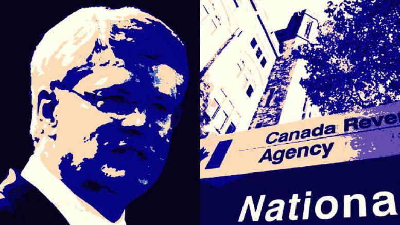 Harper, Canada Revenue Agency sign