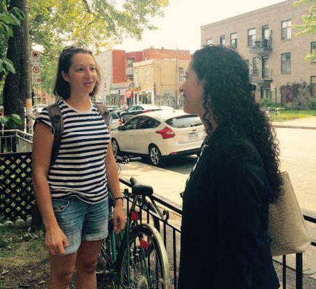 Rachel Bedayan meeting voter