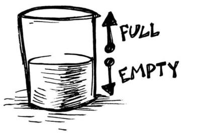 Illustration: Glass half-full, half-empty