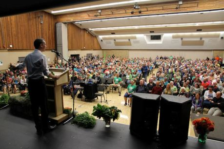 Green rally in Nanaimo, BC