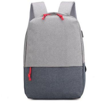 Casual unisex School backpack multi-function Backpack Gray