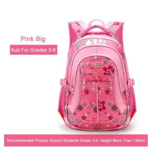 Cute Floral print Kids Backpack Backpack Pink Big