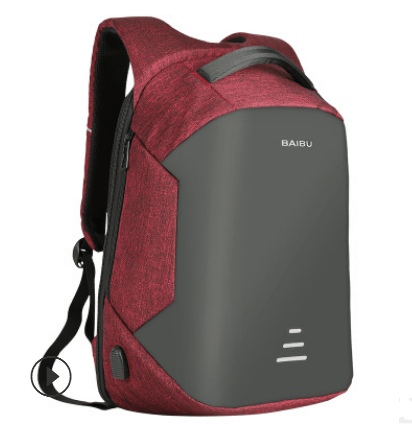Laptop Backpack Anti Theft Usb Charging Oxford Waterproof Backpack Red