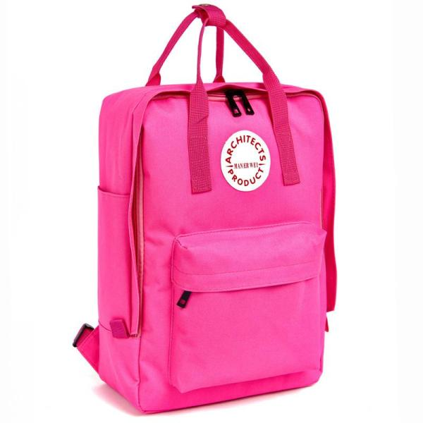 New fashion Men and Women School Backpack Backpack Rose red