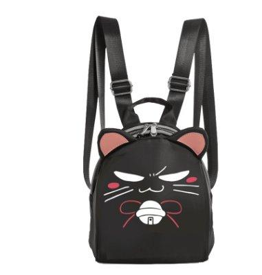 Little Devil and Cat Face Casual Kids Backpack Backpack Cat Face