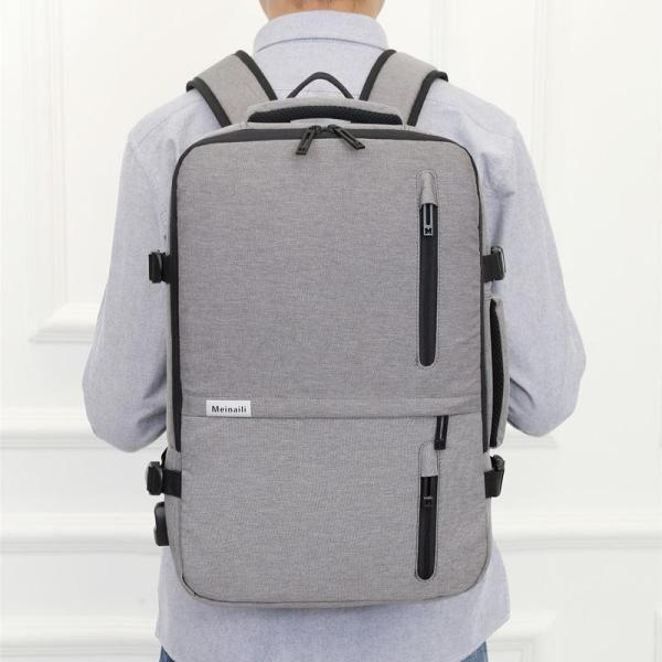 Multi-function anti-theft large capacity Laptop backpack Backpack Light grey