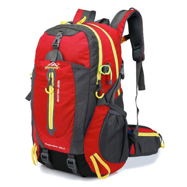 Hiking camping sports backpack Backpack Bright red