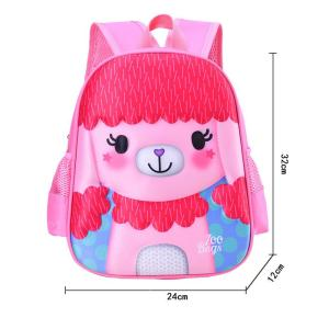 Cartoon cute waterproof Children backpack Backpack Pink