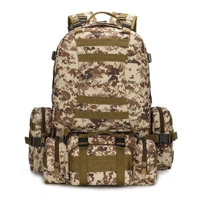 Outdoor Camouflage Tactical Travel Bacpack Backpack Desert digital