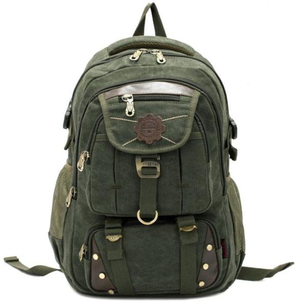 Unisex Outdoor Casual Backpack Backpack Military Green
