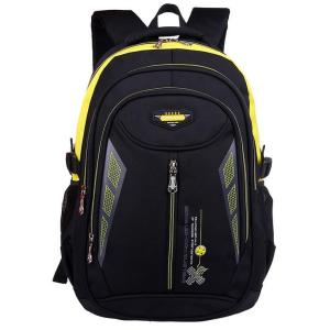 Children's backpack junior high school students Backpack Black and yellow