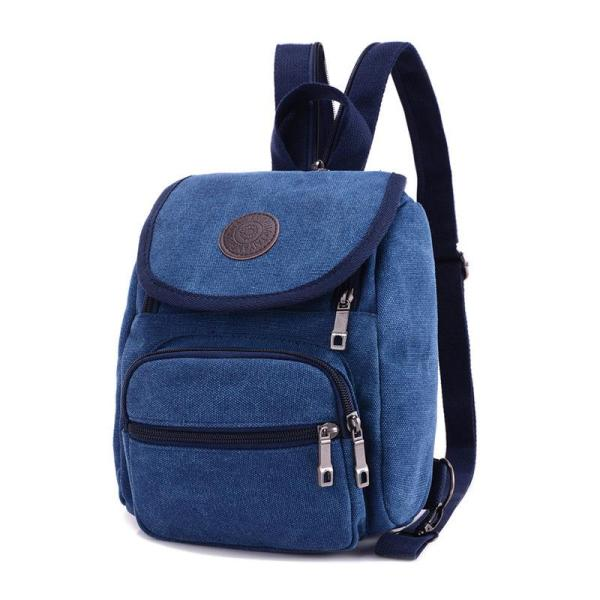 Men's Canvas backpack leisure travel, chest bag Backpack Blue