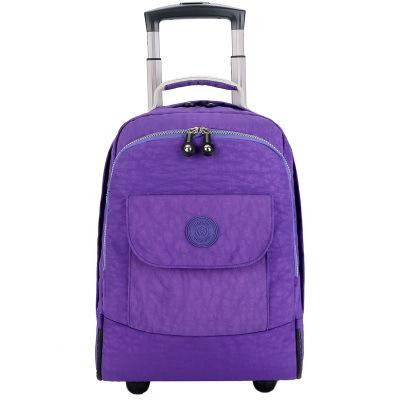 17 inch Rolling Luggage Backpack Carry on Duffle Bag Backpack Purple