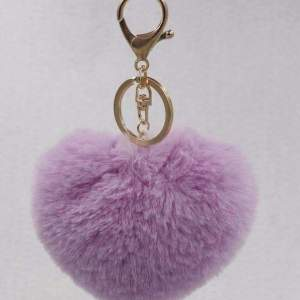 Love Heart Shaped Pom Pom Accessories Light purple