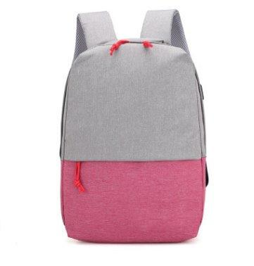 Casual unisex School backpack multi-function Backpack Pink