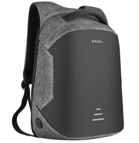 Laptop Backpack Anti Theft Usb Charging Oxford Waterproof Backpack gray