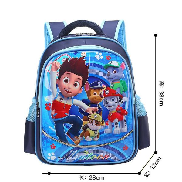 Cartoon boys and girls backpack Backpack Blue Tomas team